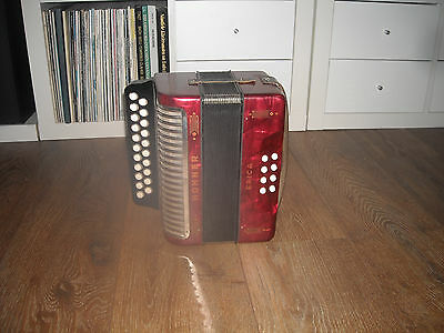 Hohner Erica C/F, Melodeon, beautiful condition,