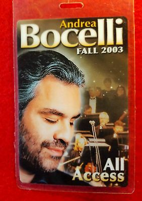 Andrea Bocelli Tour In The Fall Of 2003 All Access Backstage Laminated Pass!!!