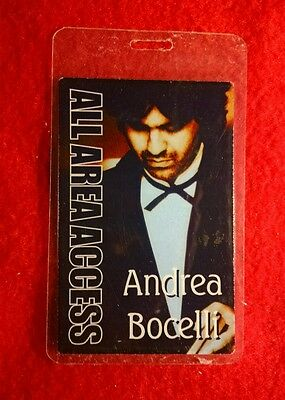 Andrea Bocelli Tour In The Fall Of 2001 All Access Backstage Laminated Pass!!!