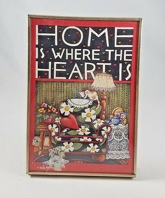 Mary Engelbreit Home Is Where the Heart Is Standing Frame Picture