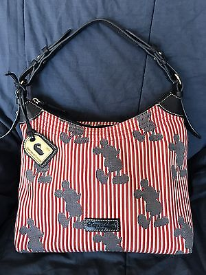 Disney Dooney And Bourke Mickey Mouse Stripes Bag