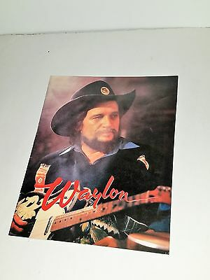 Waylon Jennings Never Could Toe The Mark Tour(1984)Concert Program Country Music