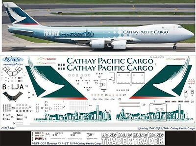 1:144 Ascensio #748F-001  -  Boeing 747-8F Cathay Pacific Cargo, Decal