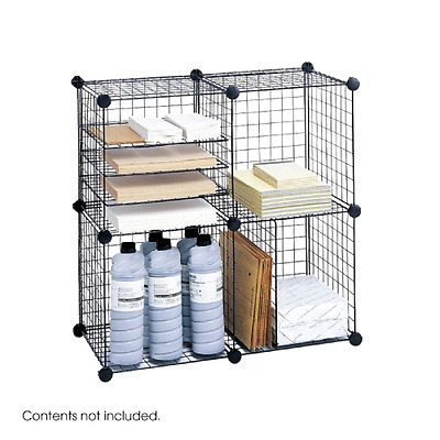 Wire Storage Cube Set 14 x 14 x 14 Inch 20 Lbs Per Cube Safco Products 5279BL
