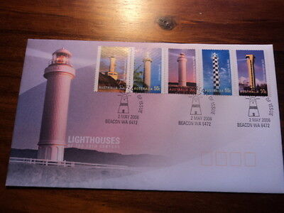 Australia FDC First day cover 2006 Lighthouses of the 20th century