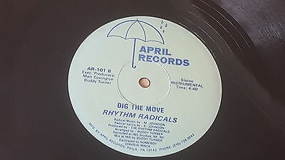"Rhythm Radicals ‎– Dig The Move 12"" SINGLE EARLY HOUSE MUSIC 1988"