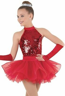 Dance Competition Costume, Red Weissmas, Adult Large