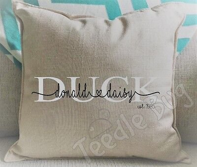 Personalised cushion. Valentine's Day Anniversary Wedding Engagement Gift Pillow