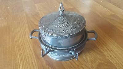 Antique Vintage Middletown Plate CO Quadruple Plate Butter Dish Cheese 500 RARE