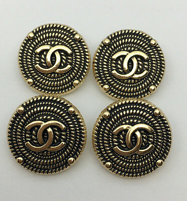 Chanel Buttons Set of 4 Gold Color