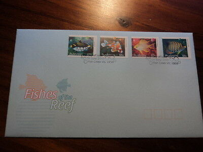 Australia FDC First day cover 2010 fishes of the reef