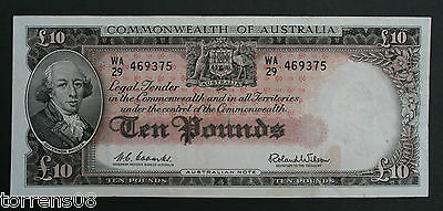 Commonwealth Of Australia Ten Pounds (£10) Note 1960 - Coombs/wilson
