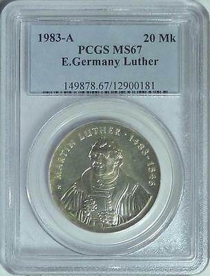 East Germany 1983-A 20 Mark, Martin Luther, PCGS MS67
