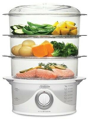 Sunbeam 9L 3 Tier VitaSteam Electric Food Steamer ST6650