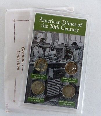Dimes of the 20th Century Set Mercury Barber Rosie Included USA Silver 10 Cents