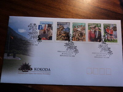 Australia FDC First day cover 2010 Kokoda 5V