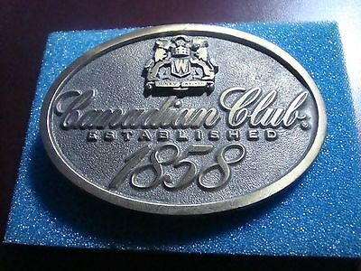 Canadian Club Solid Brass Belt Buckle