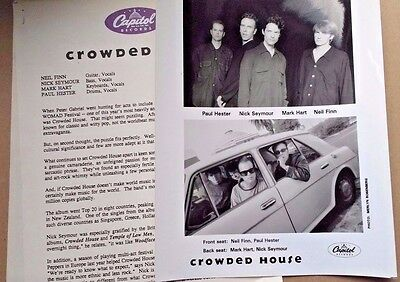 crowded house 1993 together alone era capitol records usa presskit+ photo