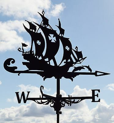 Frigate Metal Weathervane Tetto Montaggio Nave Tempo Vane Wind Decor