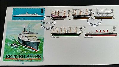 First Day Cover British Ships 1St Jan 1969