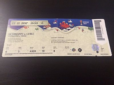 Used Ticket Confedcup 2017 #8 Germany Chile Deutschland DFB
