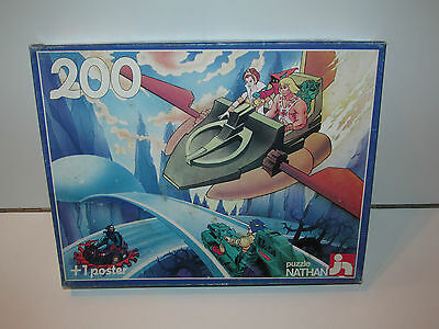 MOTU HE-MAN MASTERS OF THE UNIVERSE JIGSAW PUZZLE 200 + POSTER 1980s NATHAN TOYS