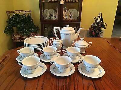 Beautiful 21pc Set of Rosenthal China Classic Rose  Blue Garland  coffee set