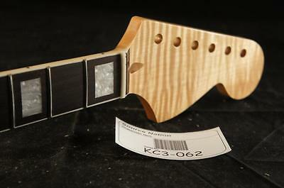 Flamed Maple with Bound Rosewood Fretboard Strat Neck. Fits Fender Stratocaster!