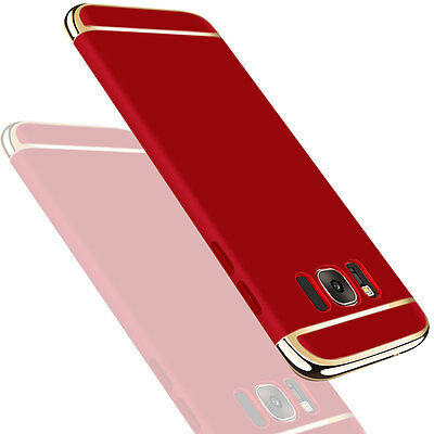 Thin Shockproof Hybrid Hard Electroplate Case Cover For Samsung Galaxy S8 RED