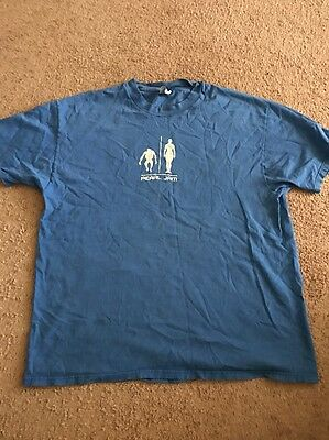 Pearl Jam Binaural tour shirt 2001 Blue Size XL