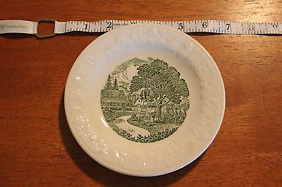 "Pastoral Homer Laughlin China 6"" Plate Made in USA Picking Apples Scene"