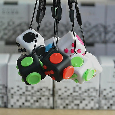 Useful Fidget Cube Anxiety Stress Attention Relief Toy 6-Side For Adult Kid Gift