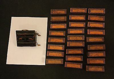 Antique instrument Rolmonica with 26 rolls original boxes Works! RARE Harmonica