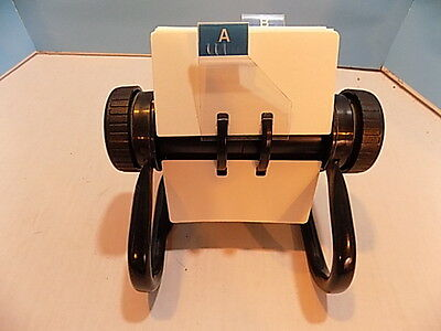 Rolodex Open Rotary Buisness File w/ 200 or so Cards Black