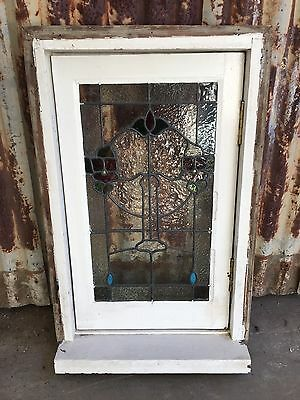 Casement Lead light Window 550w X 875h Leadlight Antique Federation Victorian