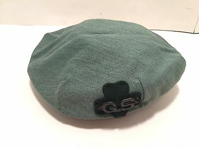 Vintage Official Girl Scouts Of America Hat Beret Green Size Medium M
