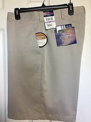 NWT! Champions Tour ~ Men's Size 38 Flat Front Golf Shorts, Tan Polyester