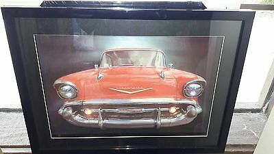 1957 Chevrolet lighted Pictured Sign