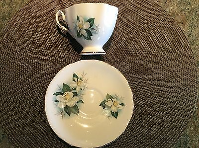 Vintage Salisbury Bone China Cup & Saucer with Gold Trim from England
