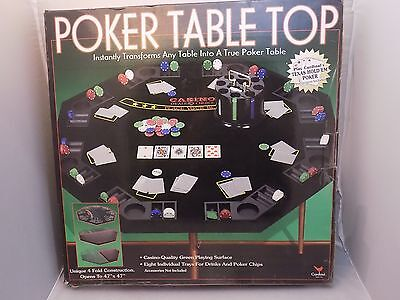 "Cardinal Poker Table Top 4 Fold Construction Opens 47"" x 47"""