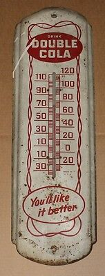 Vintage Double Cola Thermometer Drink Double Cola Sign
