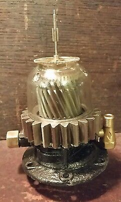Altered Oiler Added Gears Fittings Steampunk Art Lamp Parts Repurpose