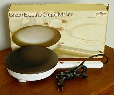"""BRAUN CM-1 Electric Crepe Maker 7.5"""" Teflon Cooking Sruface MADE IN U.S.A."""