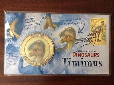 "2013 Australia's Age of Dinosaurs""Timimus""FDC Commemorative Medallion 2221/5000"