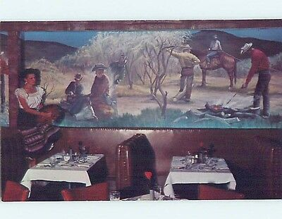 Unused Pre-1980 RESTAURANT SCENE Fort Worth Texas TX hk4610