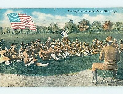 Damaged Div-Back CAMP DIX New North Hanover & Plumsted - Springfield NJ HM6854