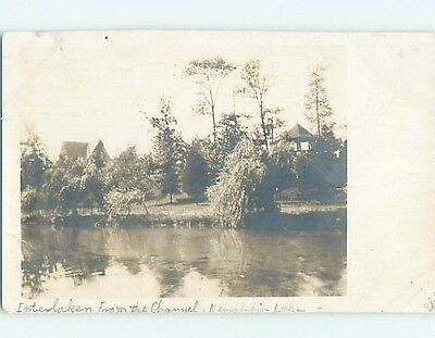 1912 rppc HOUSES AT NEMAHBIN LAKE Interlaken - Summit Wisconsin WI HM2672