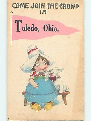 Divided-Back COMIC POSTCARD Toledo Ohio OH HM4866