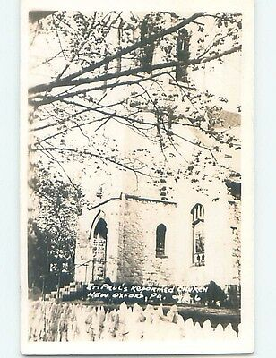 c1910 rppc ST. PAUL'S REFORMED CHURCH New Oxford Pennsylvania PA HM2801