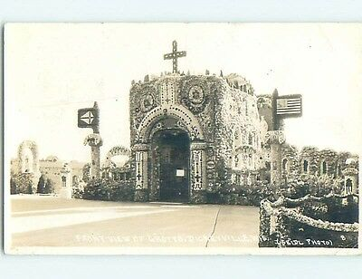 1941 rppc FRONT VIEW OF GROTTO Dickeyville Wisconsin WI HM2550